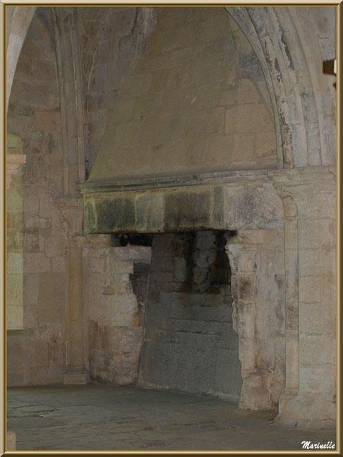 La cheminée du chauffoir de la Salle des Moines de l'abbaye de Silvacane, Vallée de la Basse Durance (13)