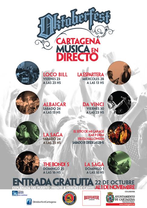 Conciertos Oktoberfest de Cartagena 2015