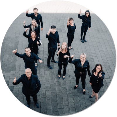 Das Team von Architekturbüro Klein und K5 Projektmanagement