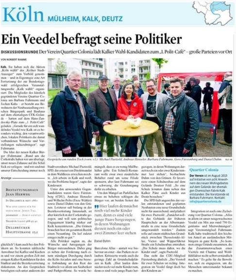 Hier gehts zum Artikel im Kölner Stadtanzeiger
