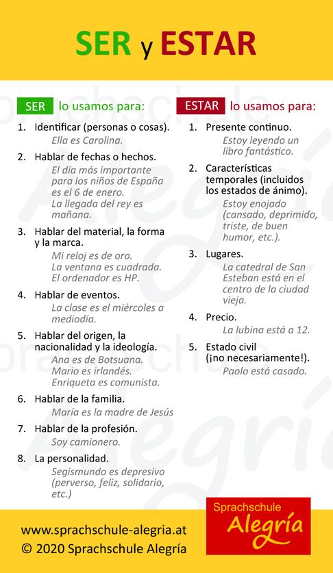 Spanisch lernen: ser y estar - einfach erklärt