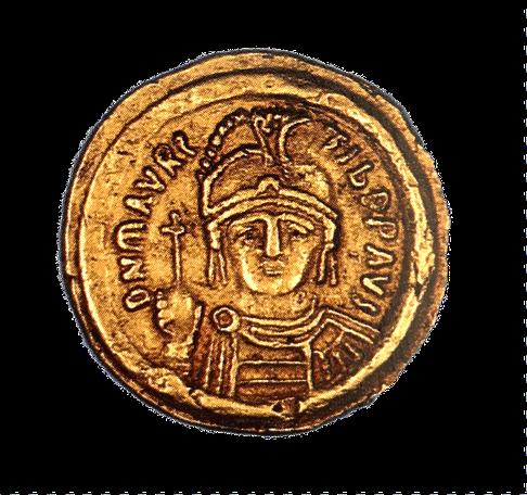 Solidus des Maurikios, Konstantinopel 598/599, Gold, Staatliche Münzsammlung München.