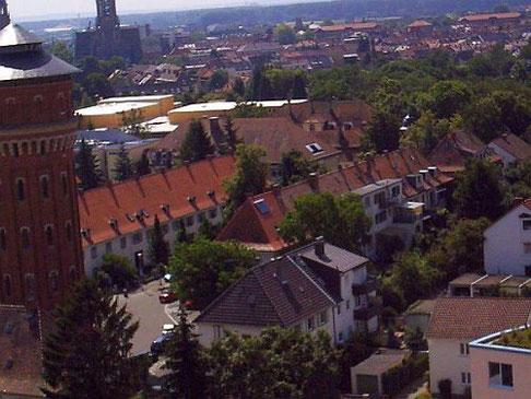 Vom Hochhaus Richtung Speyer/Süd