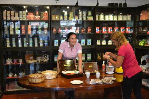 Recepción de visitas: área de té