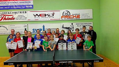 die Teilnehmer der diesjährigen Nachwuchsvereinsmeisterschaften