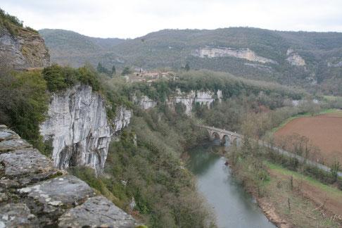 Point de vue sur les Gorges de l'Aveyron