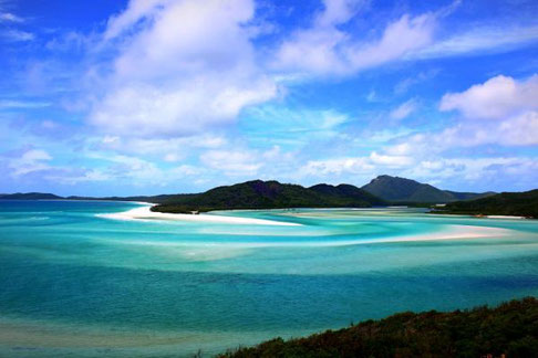 Whiteheaven Beach, Whitsunday Islands, Australien,