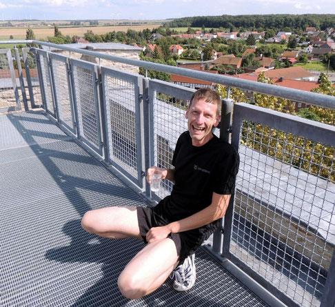 In einem Wahnsinns Tempo erreichte Holger Papajewski in nur 45 Sekunden die Aussichtsplattform vom Graunen Harm und ließ somit alle Mitstreiter weit hinter sich.