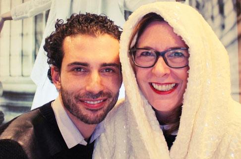 Foto: Jutta Rogge-Strang mit Plussize-Designer Olivier Wartowski