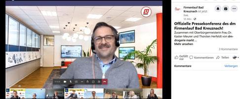 Stephan Brust in der virtuellen Pressekonferenz