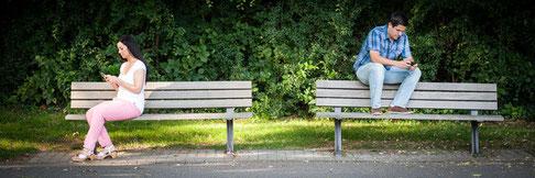 Paarberatung, nicht miteinander reden, auseinander gelebt