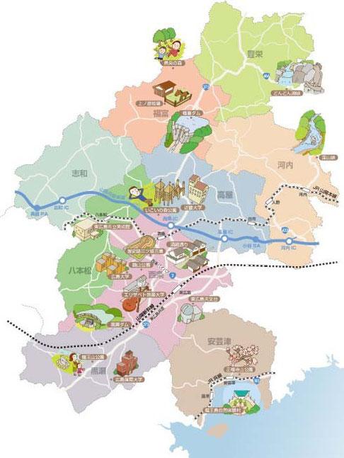 広島イラストマップ