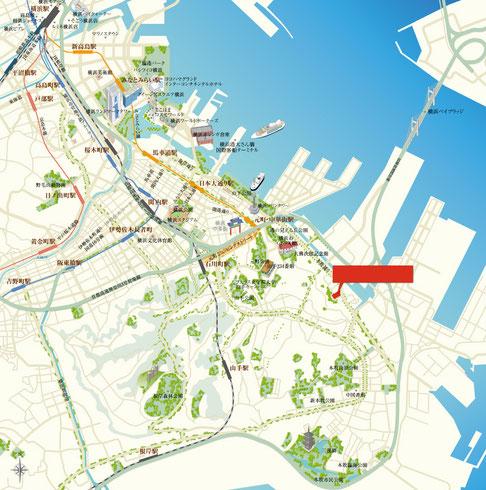 横浜周辺地図