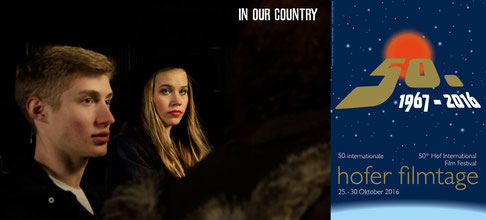 Filmstill © Saskia Hahn Filmproduktion, Festivalplakat Hof