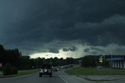 Sturm auf der Route 66, dunkle Wolken