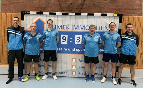 Erneuter Heimsieg für die 1. Mannschaft (v. l. Tobias Dörr, Guido Lenz, Daniel Jacquemien, Hans Frittmann, Michael Kleinschmager und Kevin Müller)