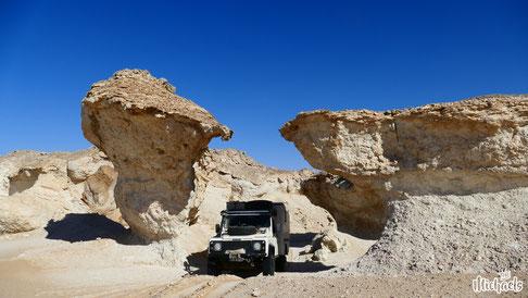Weise Wüste Oman, Kalksteinfelsen an der 31, The Michaels, Wüstenroute Oman
