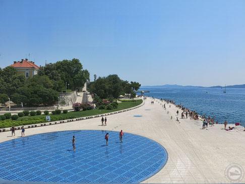 """""""Gruß an die Sonne"""" in Zadar"""