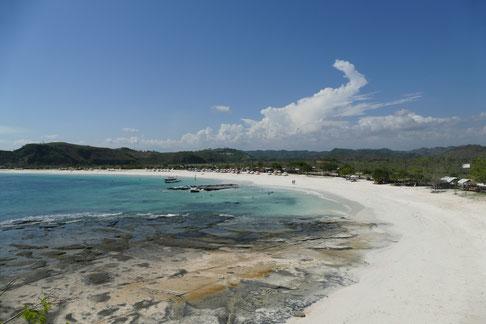 Tanjung Aan Beach, Lombok, Indonesien. Ein traumhafter Strand!