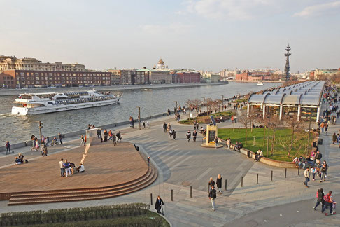 Moskwa Uferpromenade