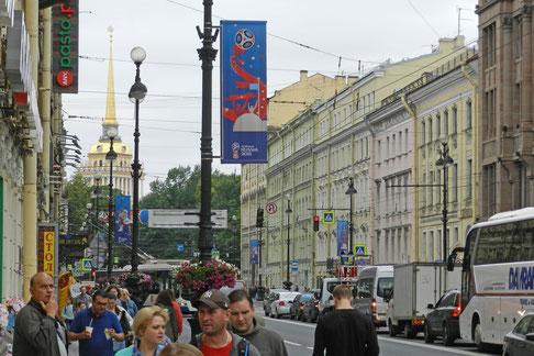 Am Newski-Prospekt in Sankt Petersburg