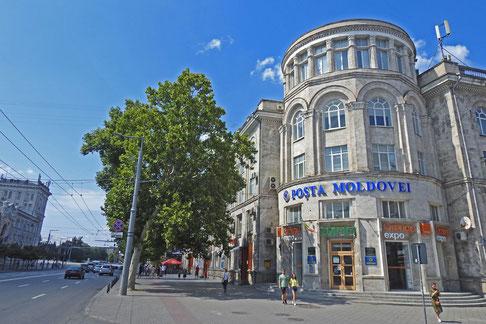 Chisinau Hauptpost im Stadtzentrum
