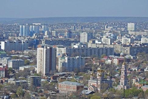 Saratow an der Wolga, Stadtpanorama vom Siegespark