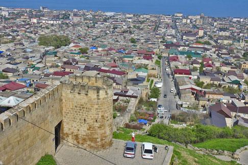 Derbent Dagestan Blick auf die Stadt