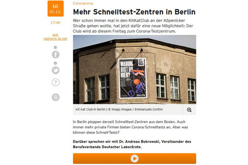 Screenshot radioeins.de - Website von Radio 1, Rundfunk Berlin-Brandenburg (RBB)