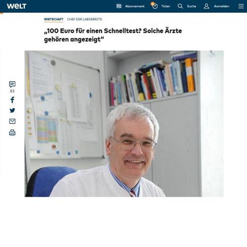 """Screenshots """"Die Welt"""" - Tageszeitung der Axel Springer SE"""