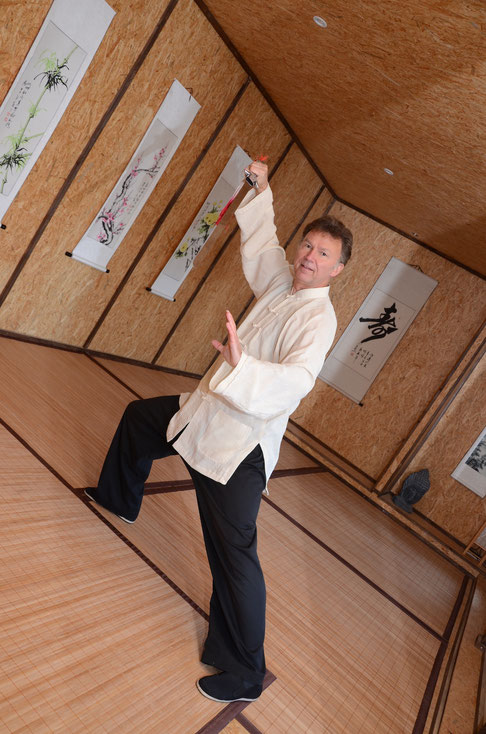 Andreas Lahn in seinem Japanhaus, in dem künftig Kurse verschiedener Art regelmäßig stattfinden werden.