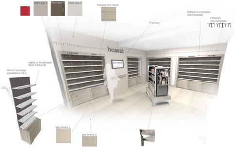 dessin esquisse projet - agencement de magasin montpellier