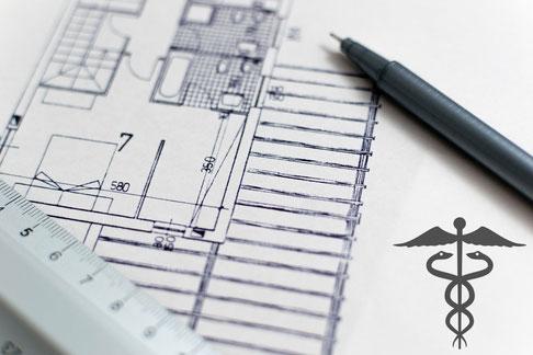 dessin plan - aménagement cabinet médical