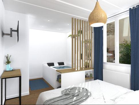 Rénovation salle de bain à Montpellier - architecte d 'intérieur montpellier