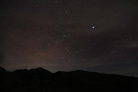 Impressive starry sky at 3 800m.