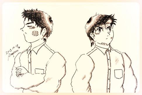 中一当時の修平と健太郎