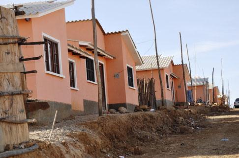 Die Häuser kurz nach ihrer Übergabe im Juli 2016