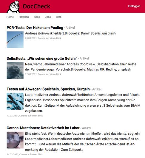 Screenshot doccheck.com - DocCheck Community GmbH (abgerufen am 31.03.2021)