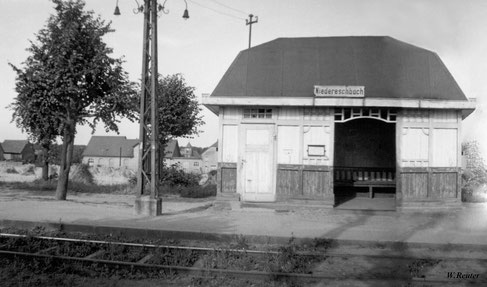Straßenbahnhäuschen um 1920