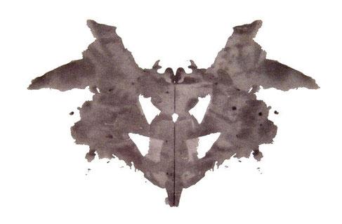 Première planche du test de Rorschah. Source : wikipédia.