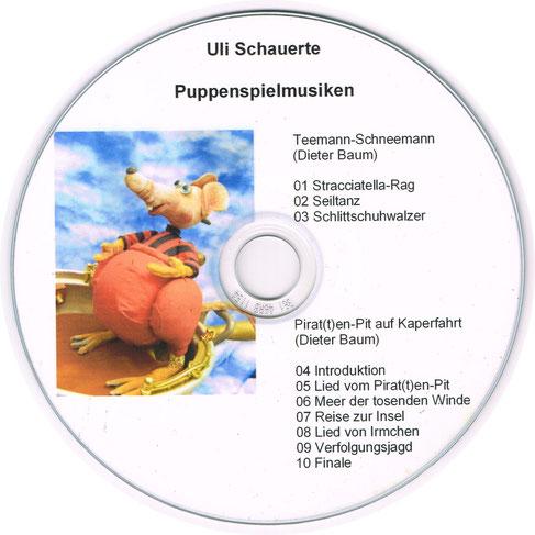 """Photo: CD-Aufdruck der Puppenspielmusiken für Dier Baum (Figurentheater """"Sack und Pack"""")"""