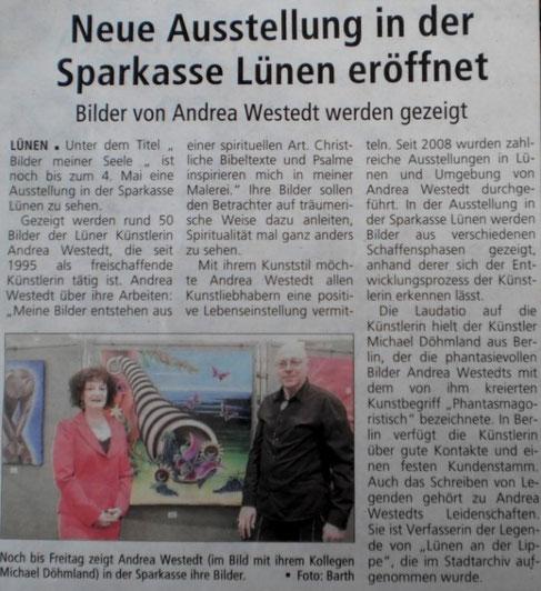 Ausstellung bei der Hauptsparkasse / Lünen