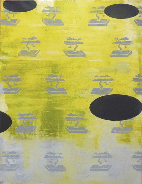 """""""Nippon Wall"""", 2003, Öl und Industrielack auf Leinen, 120 x 160 cm"""