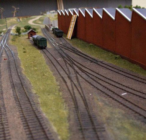 Modul und Gleisanlagen von Splitveld Fabriek, arrangiert und gebaut von Henk Oversloot im Maßstab   1 zu 160