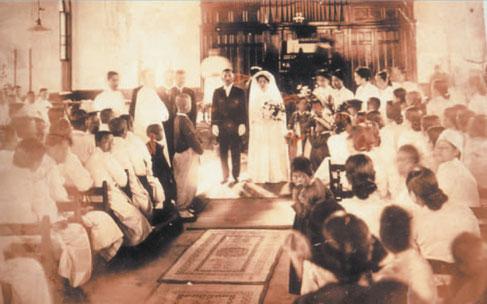 貞洞教会での結婚式(晶月羅蕙錫記念事業会提供)1920 年