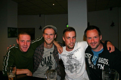 V.l.n.r. Sander, Ik, Matt en Carl (c) Matt Wilson