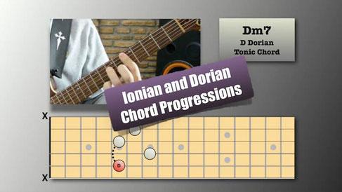 Ionian and Dorian Chord Progressions