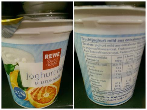 Zuckermenge im Fruchtjoghurt