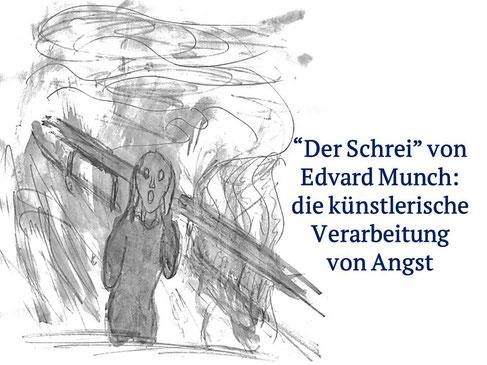 """Pastiche des Bildes """"Der Schrei"""" von Edvard Munch durch Miguel Oliveira"""