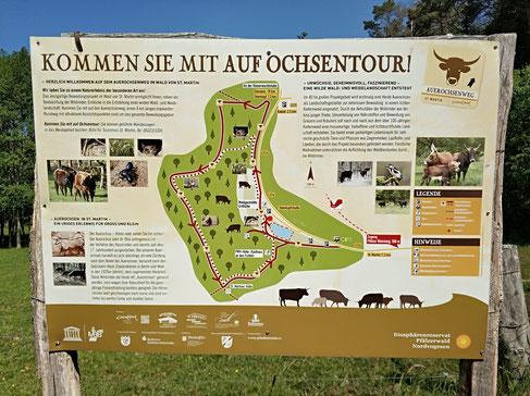 Beschreibung der Auerochsentour rund ums Gehege